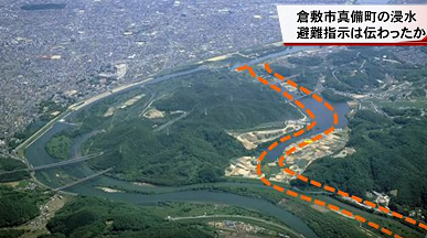 合流地点の堤防