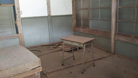 9-3  中には学校の机が。
