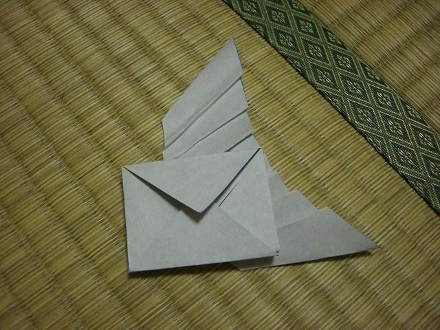 すべての折り紙 折り紙 封筒 長方形 : の 生えた 封筒 メルヘン 封筒 ...