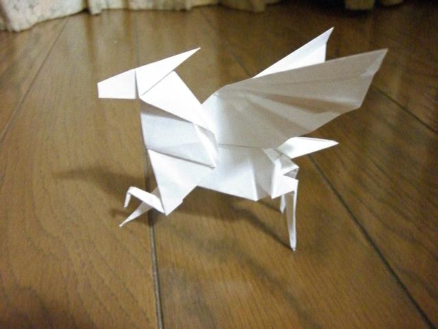 折り 折り紙 折り紙 ペガサス 折り方 : blog.livedoor.jp