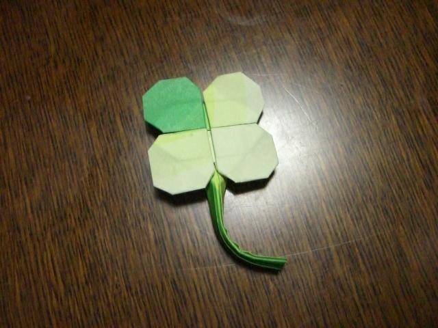 紙 折り紙:クローバー 折り紙-blog.livedoor.jp