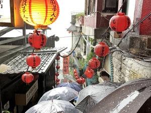 台北 九份 雨 ©下書きブログ