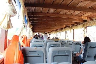 スローボート ルアンパバーン メコン川 ©アジアしあわせ特急