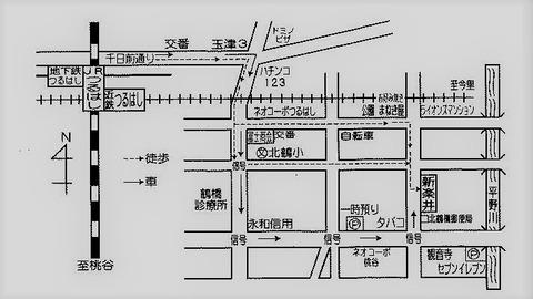 生野コリアタウン 焼き肉 新楽井(あらい) 地図