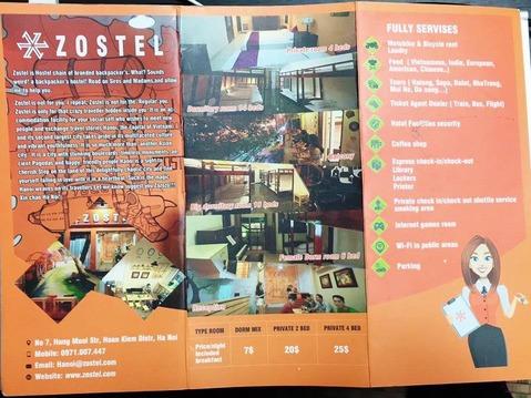 ハノイ 安宿 ゲストハウス Zostay Hostel Backpackers
