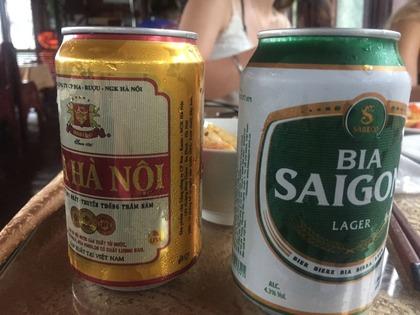 ハロン湾クルーズ 昼間から飲むビールはサイコー