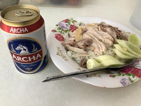 0818 ビール カオマンガイ