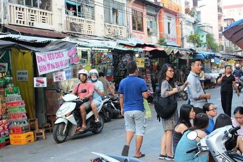 ホーチミン ベンタイン市場周辺  ©アジアしあわせ特急
