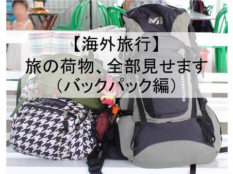 海外旅行 旅の準備 荷物 持ち物 バックパック アジア バックパッカー