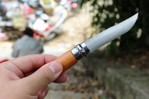 日本から持参の折りたたみナイフをこの旅で初めて使う。