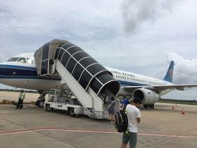 広州行きの飛行機