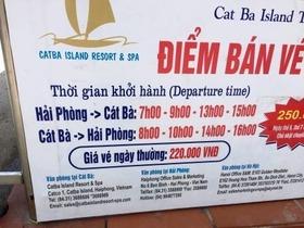 カットバ ハイフォン 船 時刻表