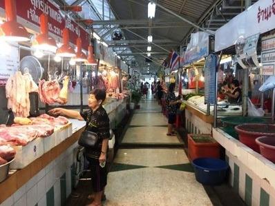 すいかハウス周辺の市場 (1)