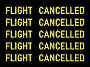 欠航 フライトキャンセル ©アジアしあわせ特急