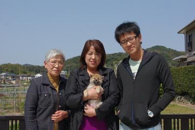 桜ちゃん家族写真