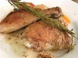 ホロホロ鳥のロースト・ローズマリー風味 ラタトゥイユ添え