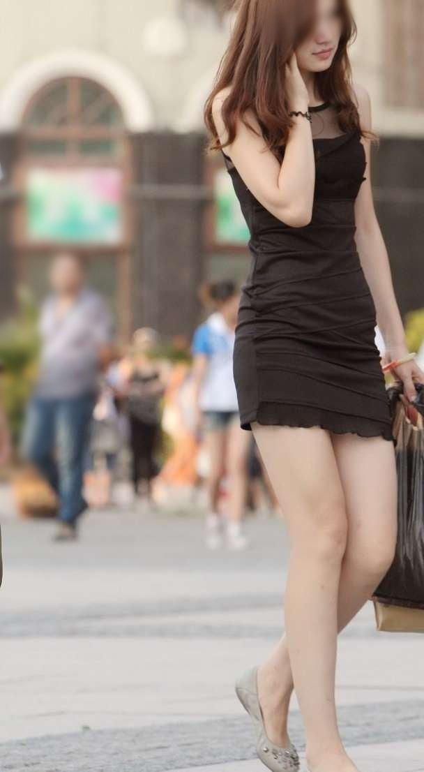 (街撮りえろ写真)純白なえろ体GALのミニスカワンピ姿がえろえろ過ぎるっ☆☆☆☆☆