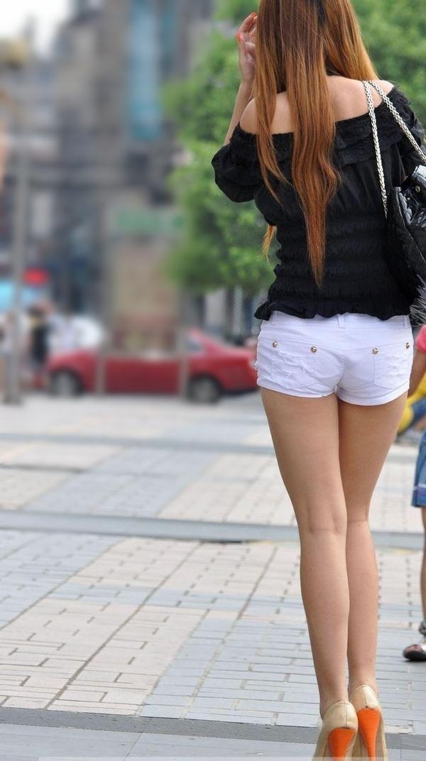 街撮りミニスカ&ショートパンツエロ画像