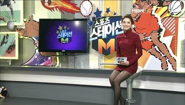 韓国のミニスカ女子アナウンサー (15)