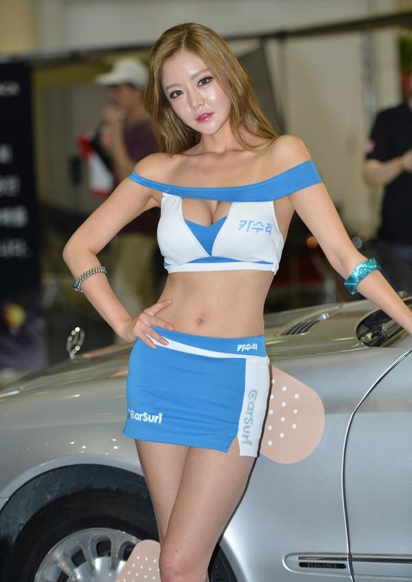 韓国の巨乳激エロコンパニオン