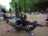 射撃訓練中