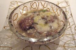 ソプラーノの和牛のポルペッティーネとレンズ豆、菜の花のミネストラ
