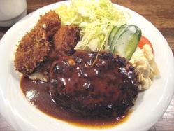 ぶどう亭 カキフライ&ハンバーグ