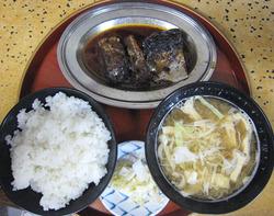 今井食堂のサバ煮定食