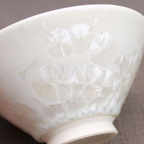 結晶釉のご飯茶碗
