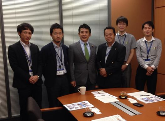 141003阿部慎一郎氏と前向きチーム