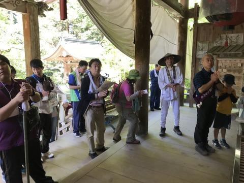 大宝寺での参拝