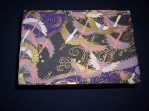 鶴の模様の友禅紙