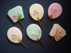 金沢の団扇型のお干菓子