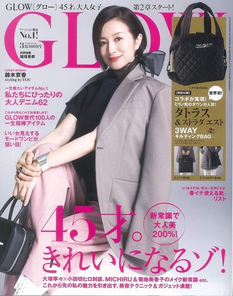 GLOW(グロー) 2019年 3月号 表紙