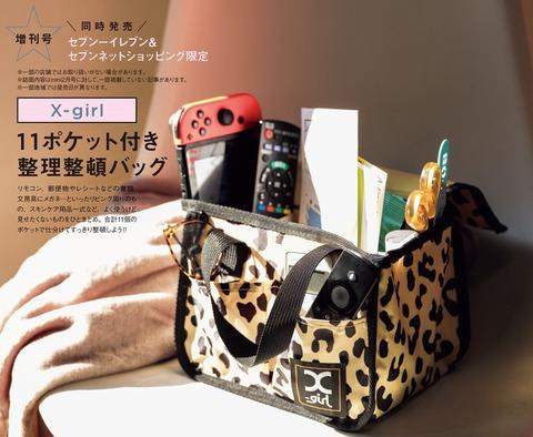 X-girl 11ポケット付き整理整頓バッグ