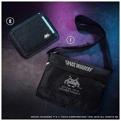 スペースインベーダー BIGロゴサコッシュ&コンパクトレザー財布