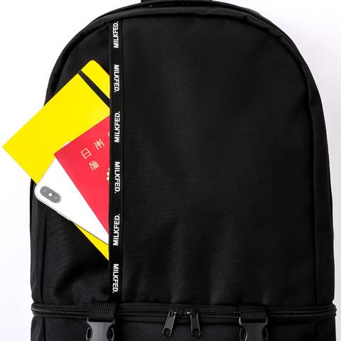 ロゴテープバックパック(ブラック)2