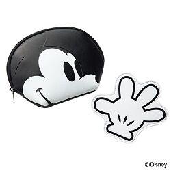 ミッキーマウス フェイスポーチと手の形のポーチ2個セット