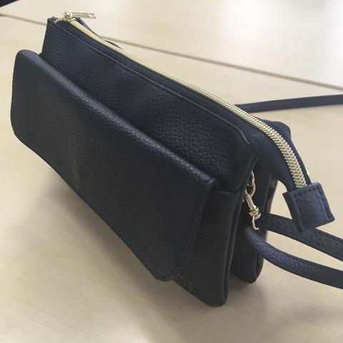 ズッカ特製 スマホも長財布も入る上質ポシェット