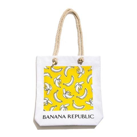 バナナ柄トートバッグ