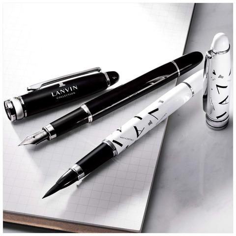 ランバンコレクション 万年筆&筆ペン2本セット