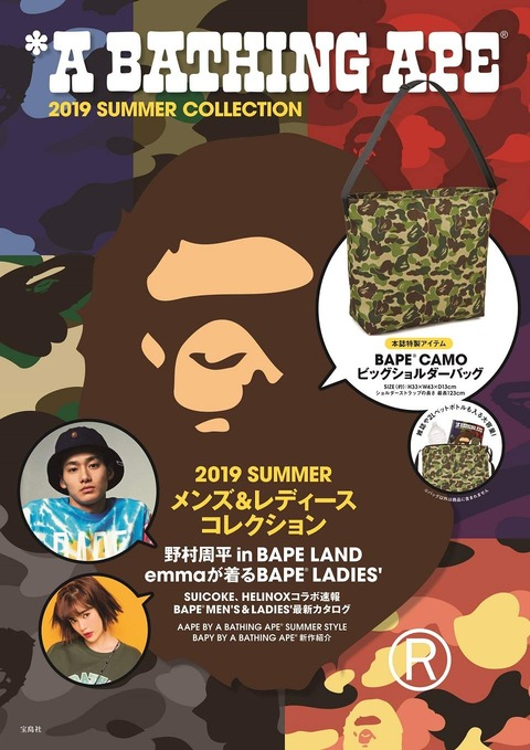 A BATHING APE® 2019 SUMMER COLLECTION 表紙