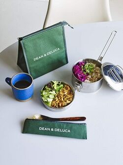 DEAN & DELUCA 保冷ランチバッグ&カトラリーポーチ2個セット