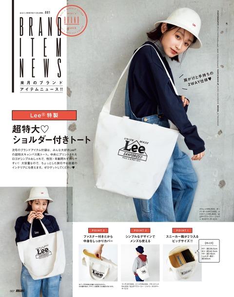 mini(ミニ) 2019年 4月号 付録予告
