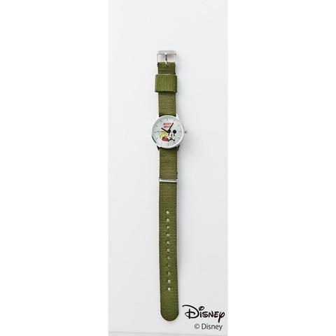 ミッキーマウス 腕時計、替えベルト2本(ナイロンベルト、レザー調)2