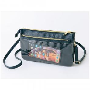 ズッカ特製 スマホも長財布も入る上質ポシェット2