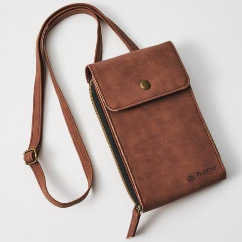 ナノ・ユニバース 縦型ショルダー財布