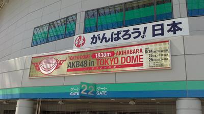 AKBの東京ドームライブ最終日