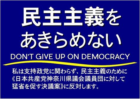 民主主義をあきらめない