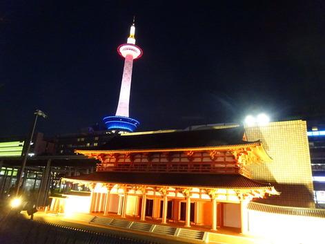 京都タワー+平安神宮190329